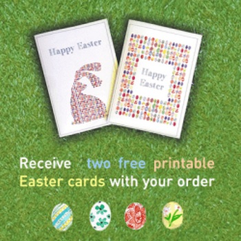 photo relating to Free Printable Easter Cards called Cost-free printable Easter playing cards Emilie Geant