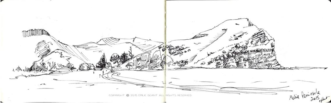 Mahia-beach-sketch