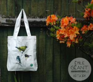 tui, wood pigeon, kereru, fantail. kiwiana, birds, native, new Zealand, Emilie Geant, tote, kiwi, maori, sustainable, bag